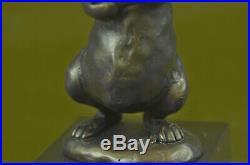 Bronze Sculpture, Hand Made Statue Animal Vienna Austrian Bunny Rabbit Hare Gift