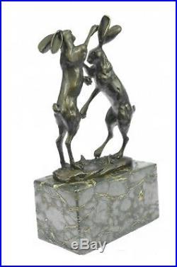 Bronze Sculpture, Hand Made Statue Animal Vienna Austrian Bunny Rabbit Hare NR