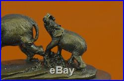 Bronze Sculpture Hand Made Statue Animal Wildlife African Elephant Elephant DEAL