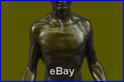 Bronze Sculpture, Hand Made Statue Art Nouveau MAN Yoga Meditation Figurine