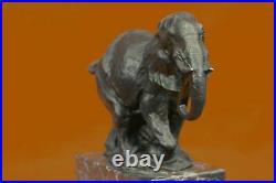 Bronze Sculpture, Hand Made Statue Art Nouveau Signed Milo Abstract Elephant Art