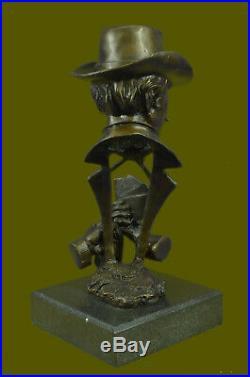 Bronze Sculpture, Hand Made Statue Bronze Statue Gambler Cards Poker Casino Game
