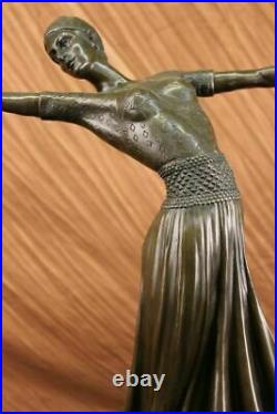 Bronze Sculpture Hand Made Statue Dancers Lovely Dancer Figurine By Chiparus