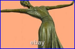 Bronze Sculpture Hand Made Statue Dancers Lovely Dancer Figurine By Chiparus ART