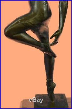 Bronze Sculpture Hand Made Statue Erotic Signed Aldo Vitaleh Italian Artist LARG