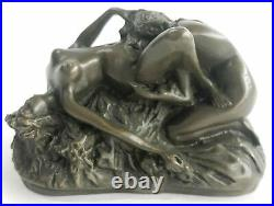 Bronze Sculpture, Hand Made Statue Erotic Two Hot Erotic Sexual Lesbian Love NR
