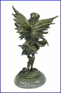 Bronze Sculpture Hand Made Statue Fairy / Mythical Nude Fairy Mythical Decor Art