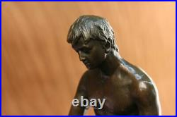 Bronze Sculpture, Hand Made Statue Gay Art Collector Edition Nude Male Figurine