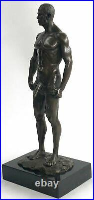 Bronze Sculpture, Hand Made Statue Gay Art Collector Edition Nude Male Gay Gift