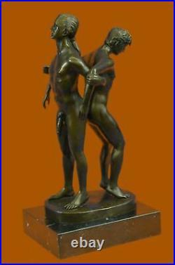 Bronze Sculpture, Hand Made Statue Gay Art Signed Original Gay Men Wrestling