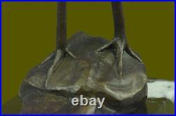 Bronze Sculpture, Hand Made Statue REMBRANDT BUGATTI STORK EXOTIC BIRD Figurine