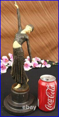 Bronze Sculpture, Hand Made Statue Signed Art Deco Chiparus Belly Dancer Bronze