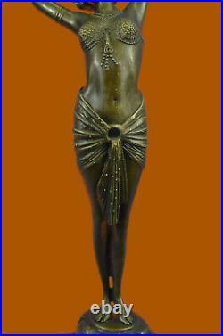 Bronze Sculpture, Hand Made Statue Signed Art Deco Leonard Belly Dancer Lost wax