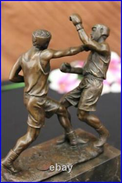 Bronze Sculpture Hand Made Statue Signed Original Milo Last Round Boxer Lost Wax