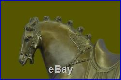 Bronze Sculpture Signed Tang Horse Hand Made by Lost Wax Method Statue Decor