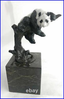 Bronze Sculpture Statue Art Deco Hot Cast Handcrafted European Made Panda by Mar
