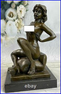 Bronze Sculpture Statue Handcrafted Nude Naked Sexual Female Hand Made Figurine