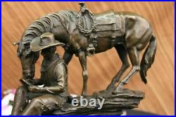 Bronze Sculpture The Cowboy by Frederic Remington Hand Made Statue Decorative