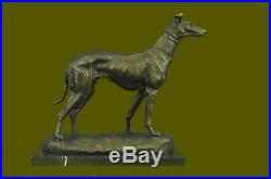 Bronze Sculpture by Fremiet Greyhound Hand Made Classic Dog Artwork Statue Deal