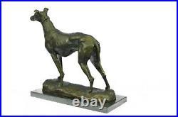 Bronze Sculpture by Fremiet Greyhound Hand Made Classic Dog Artwork Statue Sale