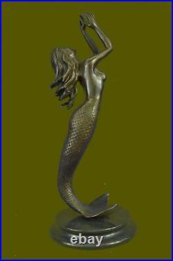 Bronze Sculpture of Mermaid Sea Ocean Nautical Hand Made Masterpiece Statue Deal
