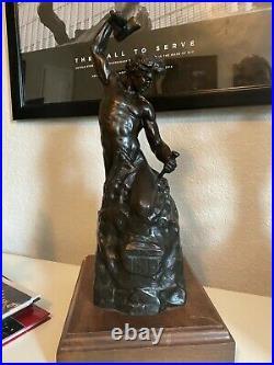 Bronze Self Made Man 1996 Original Casting- Perfect Gift -Successful Man