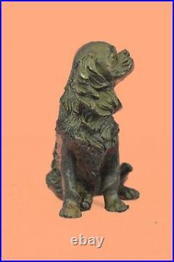 Bronze Spaniel Statue European Hand Made by Lost Wax Method Sculpture