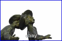 Bronze Statue Hand Made Wounded Bunkie by Frederick Remington American Artist