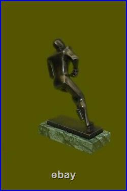 Bronze Statue, Hockey Player, Signed Mario Nick Hand Made Figurine Figure SALE
