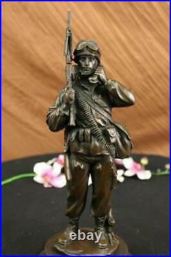 Bronze Statue Unknown Soldier WW2 NY War Memorial Military Veteran Hand Made
