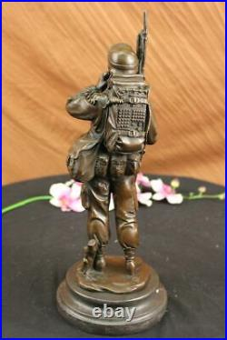 Bronze Statue Unknown Soldier WW2 NY War Memorial Military Veteran Hand Made NR