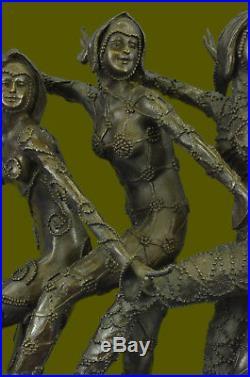 COLLECTIBLE Russian Dancers` Fabolous Five Hand Made Bronze Sculpture Statue