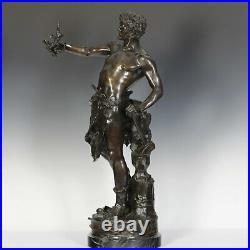 C. Marioton Le Travail Bronze Sculpture 1890 France Art Nouveau 83 cm