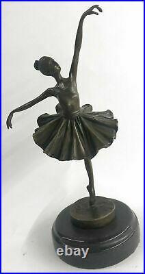 Cast Bronze Sculpture Ballerina Ballet Dancer Figurine Statue Hand Made Figure