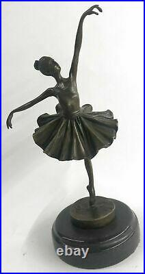 Cast Bronze Sculpture Ballerina Ballet Dancer Figurine Statue Hand Made Statue