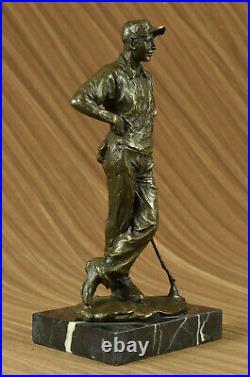 Champion Golfer Tiger Woods Bronze Sculpture Sport Trophy Statue Golf Hand Made