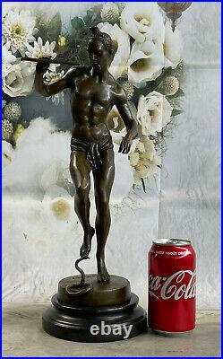 Charmeur de serpents (Snake Charmer) Large, bronze statue, Mid Century Hand Made