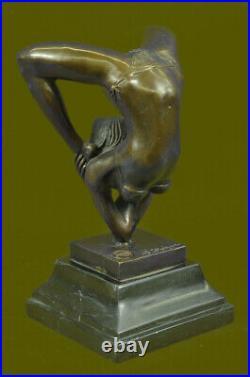 Dancer Gymnast Bronze Figure Statue Deco 5.2 KG Lost Wax Hand Made Figurine Sale