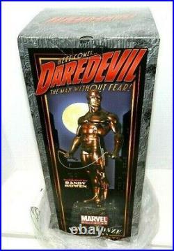 Daredevil Bowen Statue Faux Bronze Gem Only /300 Made New Sealed Gem Piece