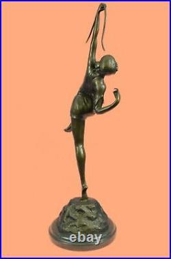 Diana The Huntress Signed Pure Hotcast Bronze Statue Hand Made Figurine Deal