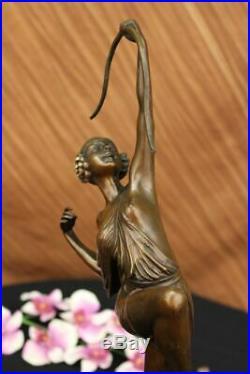 Diana The Huntress Signed Pure Hotcast Bronze Statue Hand Made Figurine Figure