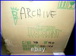 Dr Doom Bowen Statue Faux Bronze Gem Only 155/300 Made New Gem Piece Case