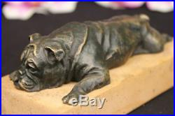 English Bulldog Garden Yard Outdoor Indoor Bronze Statue Sculpture Hand Made NR