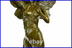 European Design Heavens Angel Bronze Statue Hand Made Sculpture Figurine Figure