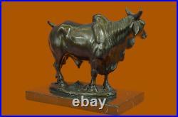 European Made Cow Statue 100% Bronze Hand Made Figurine Cattle Bull Figurine