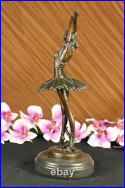 European Made Folk Culture Handmade Old Bronze Brass Statue Ballerina Sculpture