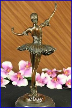 European Made Folk Culture Handmade Old Bronze Statue Ballerina Sculpture Decor