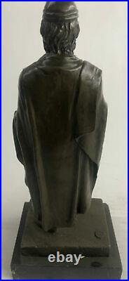 European Made Greek God Saturn Home Office Collectible Bronze Statue Decorative