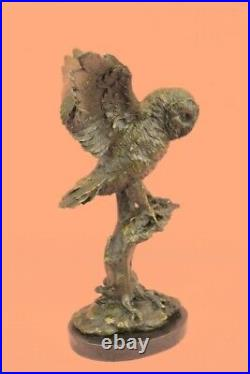 Exclusive Stylised Bronze Owl Hot Cast Statue Bird Figure Cubist Hand Made Sale