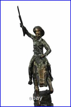 Extra Large Bronze Horse and Cowboy Bronco Buster by Thomas Hand Made Figuri